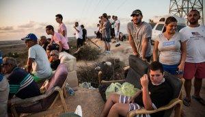 Israelis Watch Bombing of Gaza